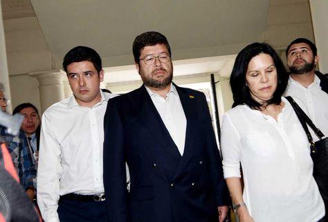 El líder opositor Samuel Doria Medina en el Tribunal Supremo de Justicia en Sucre
