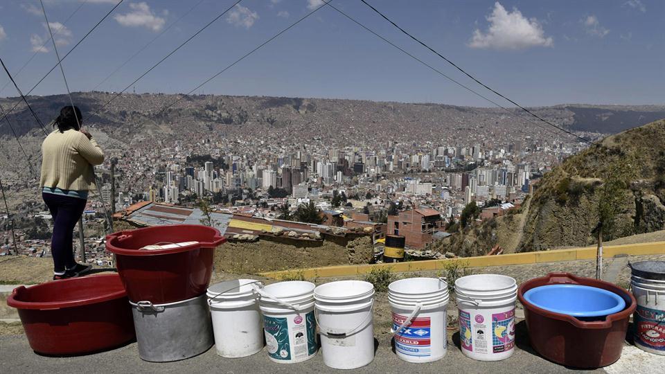 Bolivia atraviesa la peor sequía en 25 años. Foto: AFP / Aizar Ralde