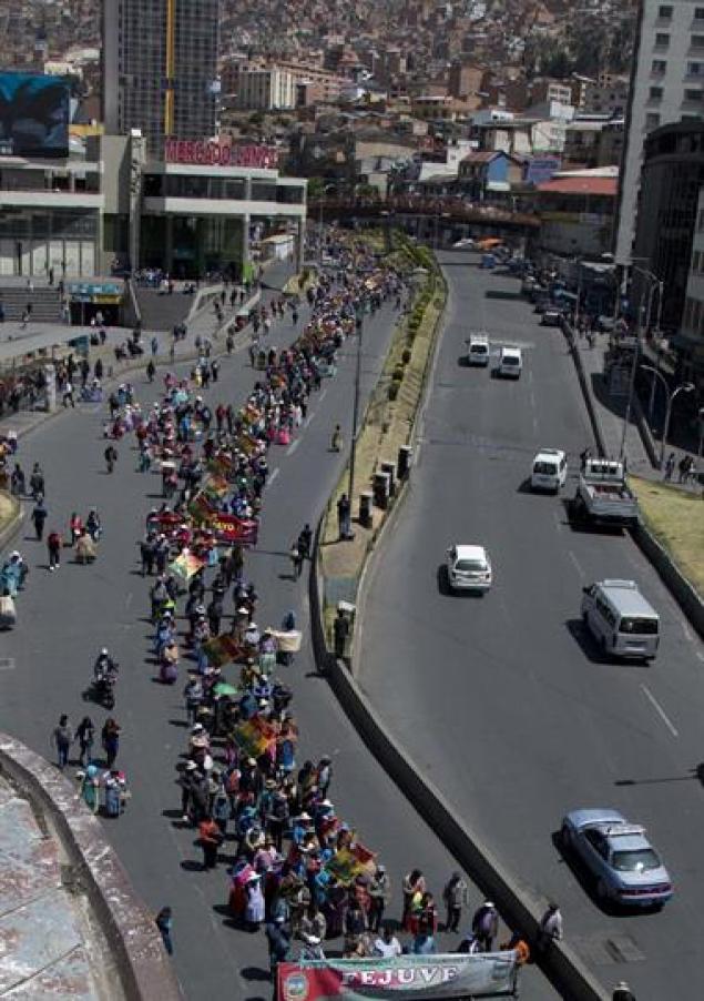 Hay protestas en La Paz y varias zonas rurales ya que las cosechas dependen del riego. Foto: AP / Juan Karita