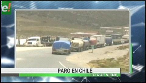 Titulares de TV: Retoman el paro aduanero en Chile