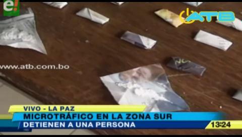 Policía  incauta droga destinada al microtráfico en La Paz