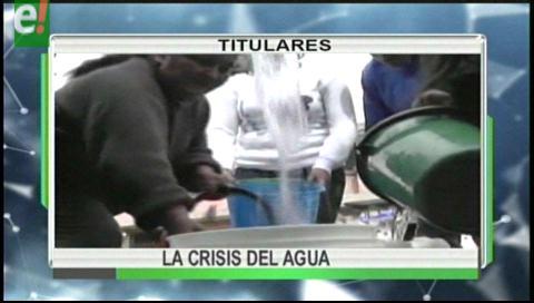 Titulares de TV: Se agrava la crisis del agua en La Paz