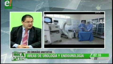 Hospital Católico donará 20 cirugías urológicas