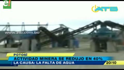 Actividad minera de Potosí se redujo en un 40%