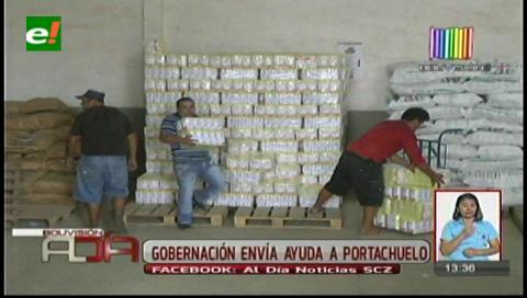 Gobernación cruceña continúa enviando ayuda a las familias afectadas por la sequía