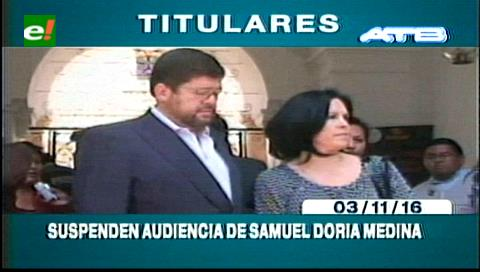 Titulares de TV: Suspenden audiencia de Samuel Doria Medina por el caso FOCAS