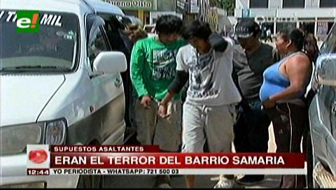 Detienen a supuestos asaltantes en el barrio Samaria del Plan Tres Mil
