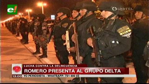 Ministro Romero presenta el grupo Delta e inaugura nuevo metodo de patrullaje
