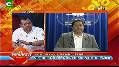 Fabriles afirman que datos oficiales de crecimiento los da el INE y no el ministro