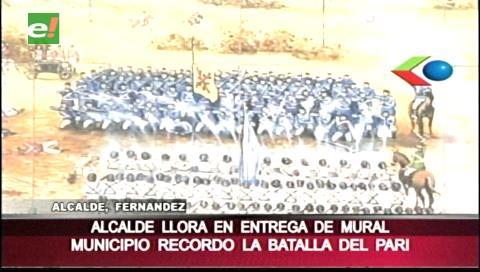 Percy Fernández inauguró pórtico por los 200 años de la Batalla del Pari