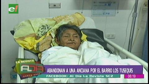Individuos abandonaron a una anciana por el barrio Los Tusequis