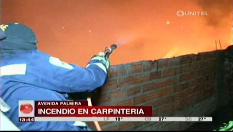Santa Cruz: Incendio de 'gran magnitud' causa daños en taller de carpintería