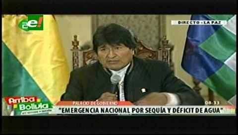 Evo declara emergencia nacional debido a la sequía y al déficit hídrico