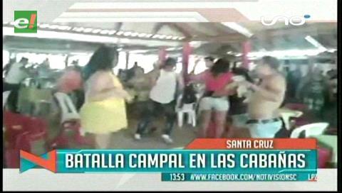 """Pelea campal en """"Las Cabañas"""""""