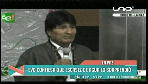 """Evo: """"La falta de agua es como un terremoto"""""""