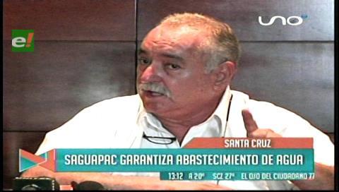 Saguapac garantiza suministro de agua a Santa Cruz
