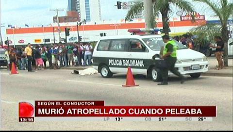 """Indigente muere atropellado tras ser """"empujado"""" a la avenida San Martín"""