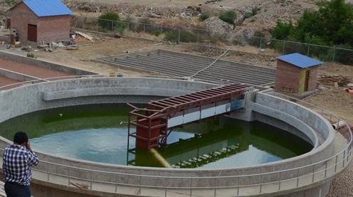 EN CONSTRUCCIÒN La planta de tratamiento de aguas que construye Sacaba en la zona de El Abra. | José Rocha