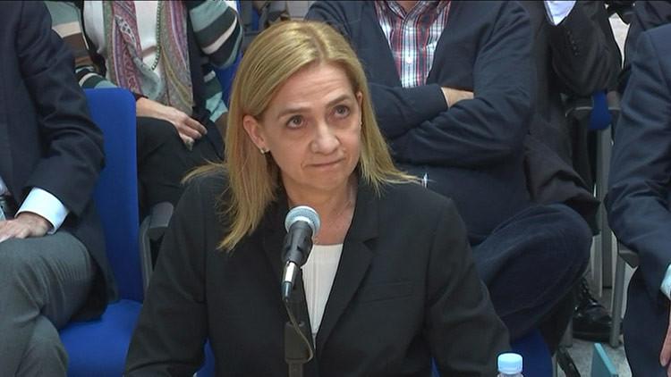 La Infanta Cristina testifica en el juzgado de Palma de Mallorca, España