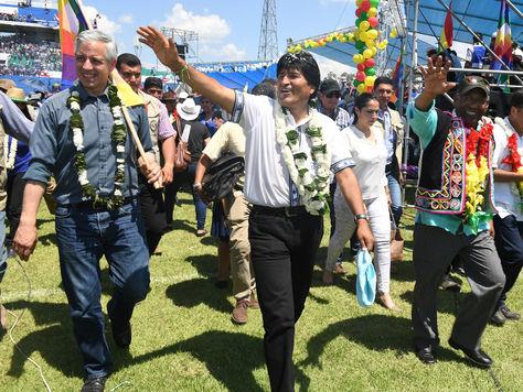 El presidente Evo Morales participa del