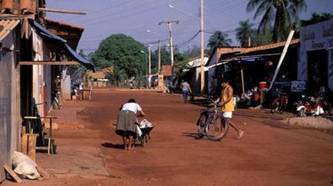 Una calle de la localidad cruceña de San Matías, cerca de la frontera con Brasil.