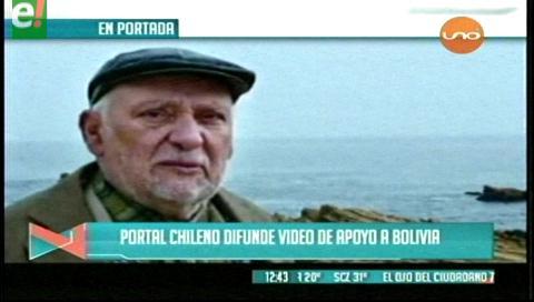 Titulares de TV: Portal chileno difunde video de apoyo a causa marítima de Bolivia