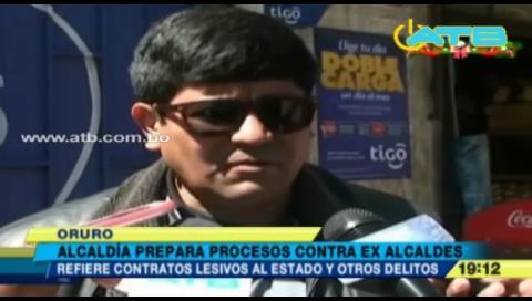 Alcaldía de Oruro prepara procesos contra 3 exautoridades ediles
