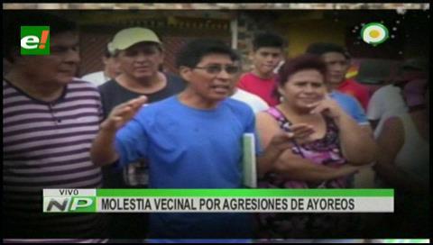 Vecinos protestan: Piden el traslado de la comunidad ayorea