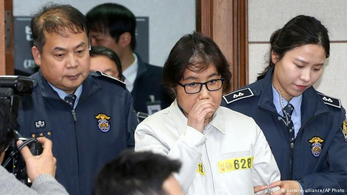 Choi Soon-sil, la madre de la capturada en Dinaamrca.