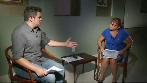 Celia Castedo Monasterios, la funcionaria de AASANA que observó el vuelo de LaMia, durante la entrevosta con SporTV