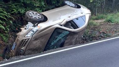 Así quedó el vehículo tras el accidente.