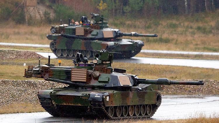 Centenares de tanques de EE.UU. llegan a Europa para desplegarse cerca de las fronteras rusas