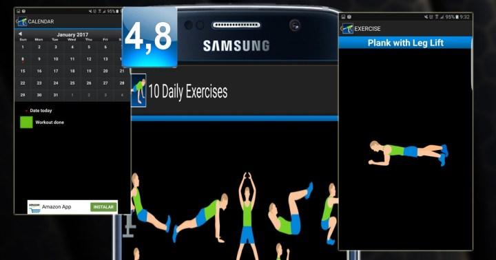 Montaje aplicación 10 Daily Exercices