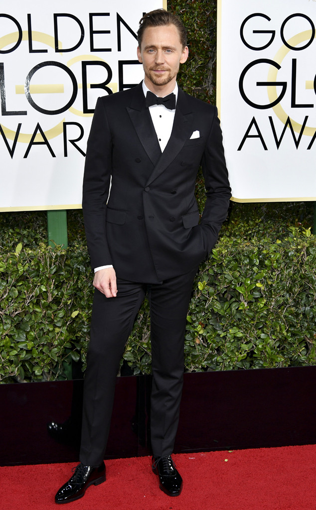 Tom Hiddleston, 2017 Golden Globes, Arrivals