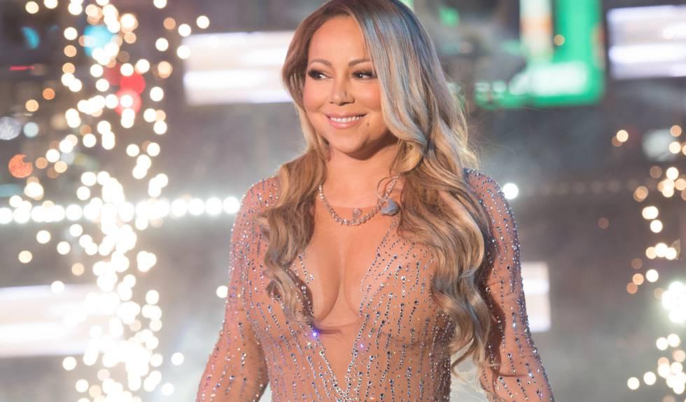 Mariah Carey, durante su actuación en Times Square.