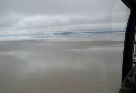 El ministro de Defensa, Reymi Ferreira, compartió en Facebook una imagen del lago Poopó, que se abasteció con las últimas lluvias.