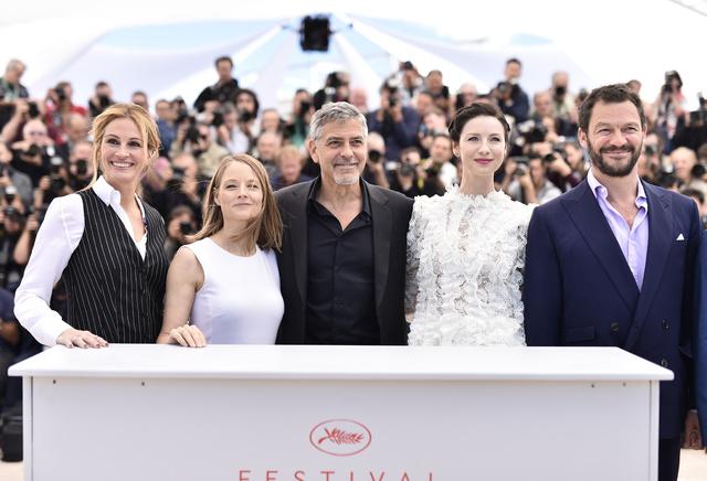 Jodie Foster en el pasado festival de Cannes con el reparto de