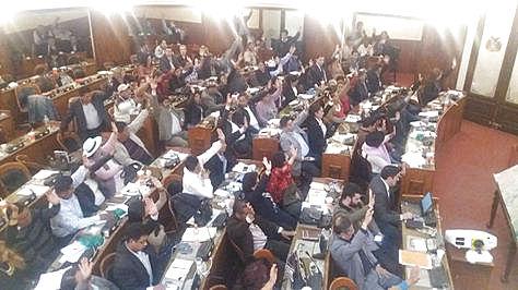 El pleno de la Asamblea aprobó el informe del Ministro de Minería y Metalurgía.