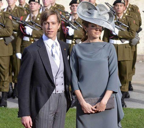 Imagen del 20 de octubre de 2012 que muestra al príncipe Luis (i) y a la princesa Tessy (d) de Luxemburgo.