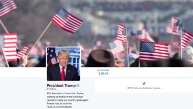 La cuenta oficial del presidente de Estados Unidos, @POTUS, ya pasó a Donald Trump.