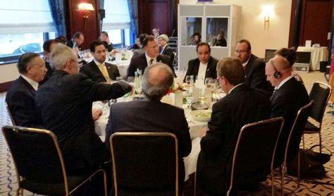 La reunión de la misión trinacional de Bolivia, Paraguay y Perú con autoridades de Alemania por el tren bioceánico, desarrollado en Alemania.