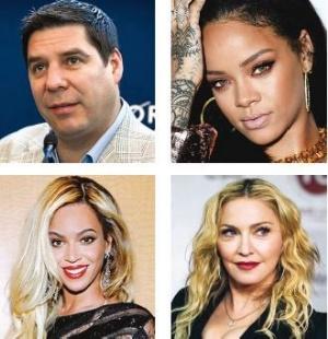 Claure asocia a Sprint con Beyoncé, Madonna y Rihanna