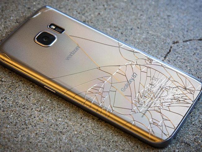 Carcasa trasera de cristal del Samsung Galaxy S7 Edge rota