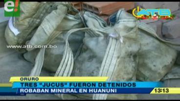 Detienen a tres ladrones de mineral en Oruro