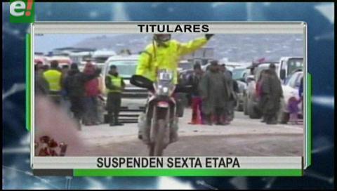Video titulares de noticias de TV – Bolivia, mediodía del sábado 7 de enero de 2017