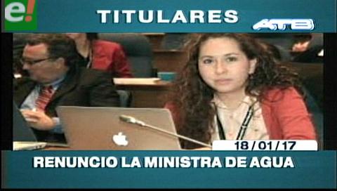 Video titulares de noticias de TV – Bolivia, noche del miércoles 18 de enero de 2017
