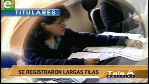 Video titulares de noticias de TV – Bolivia, noche del jueves 19 de enero de 2017