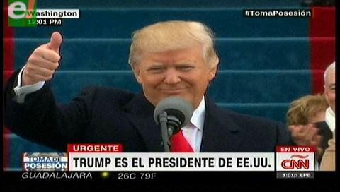 Donald Trump es presidente de EE.UU.