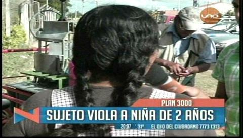 Sujeto es acusado de abusar a una menor de dos años