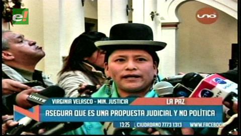 Ministra de Justicia asegura que la reforma judicial no es una propuesta política
